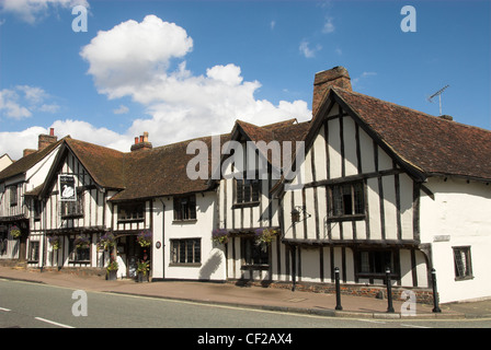 The Swan Hotel, an English country hotel in a half-timbered medieval building dating back to the 15th century. - Stock Photo