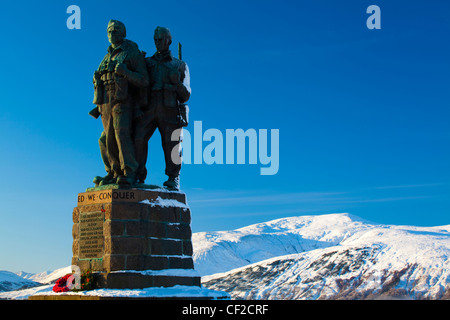 The Commando Memorial near Spean Bridge in the Great Glen commemorates the commandos who trained in the area during - Stock Photo