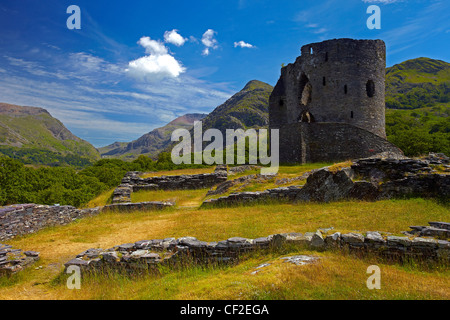 Dolbadarn Castle, a 13th century castle built by Llywelyn ap Iorwerth (Llywelyn the Great) to guard entrance to - Stock Photo