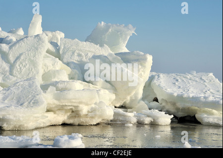 ice floes on the baltic sea - Stock Photo