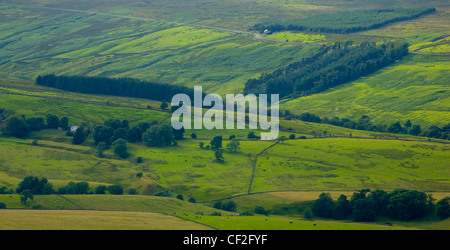 West Allen Dale, part of the North Pennines Area of Outstanding Natural Beauty (AONB). - Stock Photo