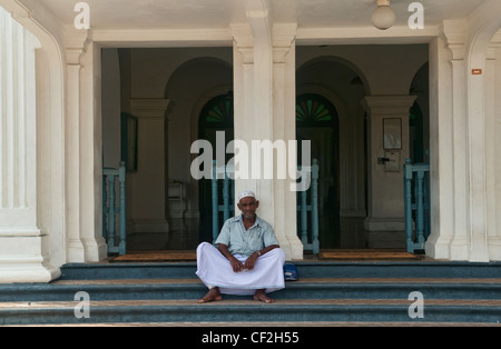 portrait of a Muslim man in Galle, Sri Lanka - Stock Photo