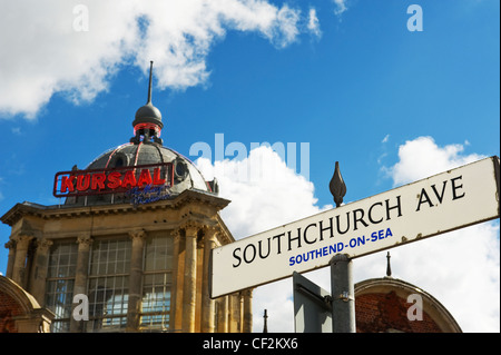 The Kursaal in Southend-on Sea. The Kursaal bulding was completed in 1901 and formed the entrance to the worlds - Stock Photo