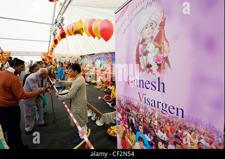 The Ganesh Visargen festival in Southend-on-Sea. - Stock Photo