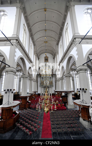 Interior views of the Westerkerk church in Amsterdam, Netherlands. - Stock Photo