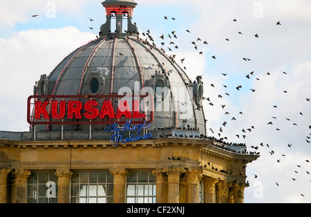 The Kursaal on the seafront at Southend-on-Sea. The Kursaal was one of the UK's earliest theme parks but closed - Stock Photo