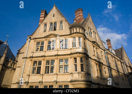 Hertford College, one of the constituent colleges of Oxford University. The college was originally founded as Hart - Stock Photo