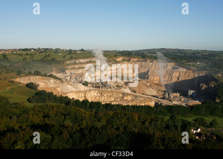 Middleton mine, near Wirksworth in the Peak District National Park, the only mine in Britain where the limestone - Stock Photo