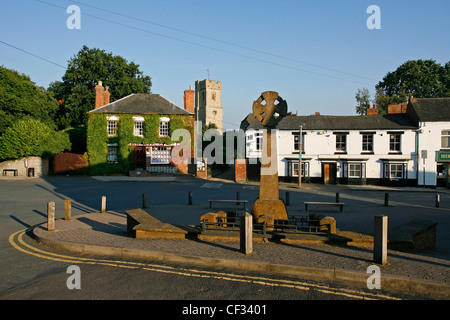 The Memorial to the local victims of the First World War at Bidford-on-Avon. - Stock Photo