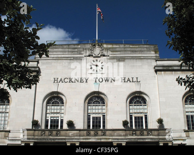 Hackney Town Hall in Mare Street. - Stock Photo