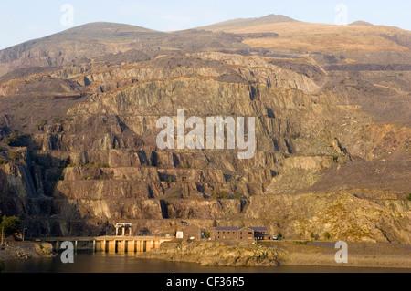 Dinorwic slate quarry near Llanberis in Gwynedd. - Stock Photo