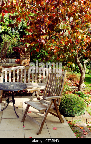 Iron lawn furniture on terrace overlooking the pacific for Outdoor furniture epping