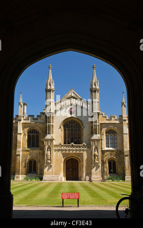 The College of Corpus Christi and the Blessed Virgin Mary. Corpus was formed by townspeople, members of two Cambridge - Stock Photo