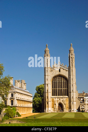 The back of King's College Cambridge showing the chapel. The young Henry VI laid the first stone of the King's College - Stock Photo