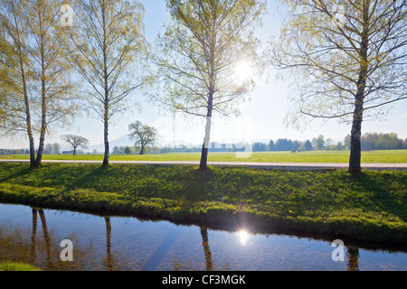 River Glan, Salzburg, Austria - Stock Photo