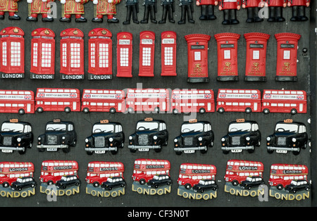A selection of London souvenirs on sale in the west end of London. - Stock Photo