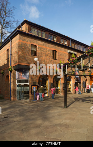 Entrance to the Jorvik Viking Centre in Coppergate. - Stock Photo