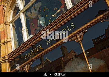 A window of the Harvey Nichols store in Leeds. - Stock Photo