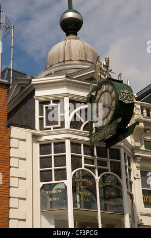 The Time Ball buildings in Briggate, Leeds. - Stock Photo