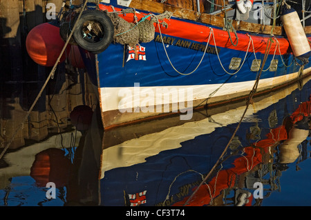 The former RNLI lifeboat Mary Ann Hepworth in Whitby harbour. The lifeboat has been restored to as near original - Stock Photo