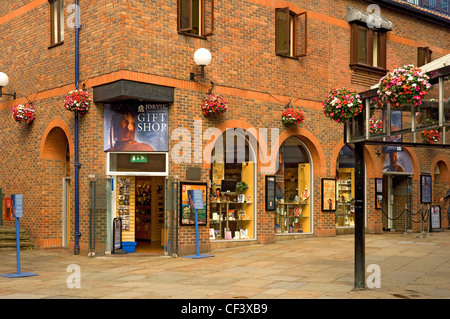 The entrance to the Jorvik Viking Centre in Coppergate, York. - Stock Photo