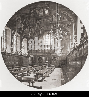 Middle Temple Hall, one of the four Inns of Court, London, England in the late 19th century. - Stock Photo