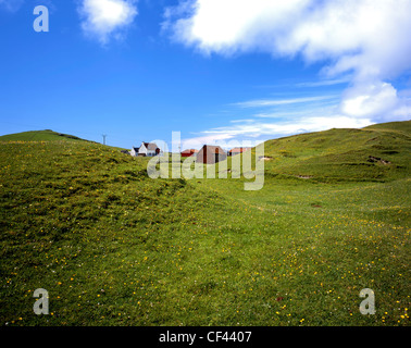 A remote hamlet in Vatersay, an island and village on the southern tip of the Isle of Barra in the Outer Hebrides. - Stock Photo