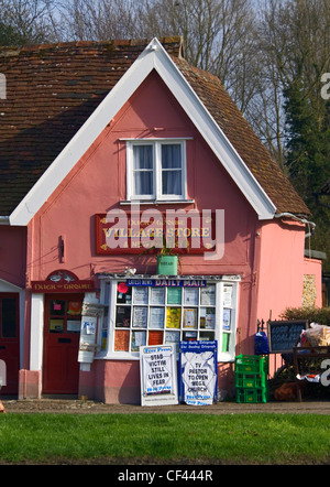 Exterior of a village store. - Stock Photo