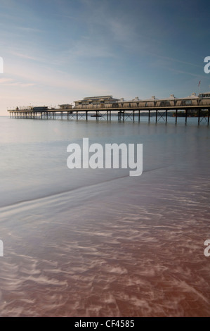 Paignton Pier on the English Riviera coast in Devon. - Stock Photo