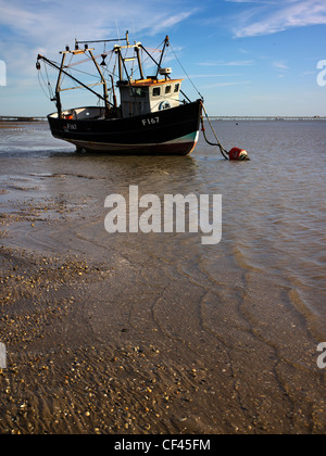 The Hornet at low tide off Southend beach. Originally the south end of the village of Prittlewell, Southend became - Stock Photo