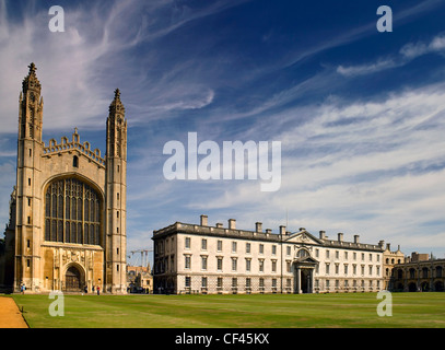 A view toward King's College Chapel.  King's College Chapel is arguably the most magnificent example of late medieval - Stock Photo