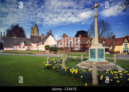 Spring arrives in the village of Cavendish. - Stock Photo