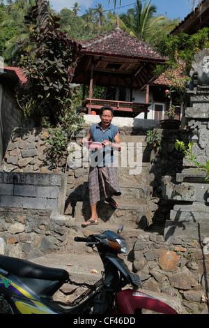 A local Balinese man, Bali, Indonesia - Stock Photo