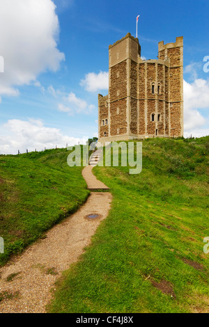 A view toward Orford Castle. - Stock Photo