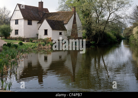 Willy Lotts cottage, a 16th-century cottage in Flatford made famous by being the subject of John Constable's painting, - Stock Photo