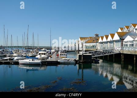 Boats in Town Quay Marina, Southampton. - Stock Photo