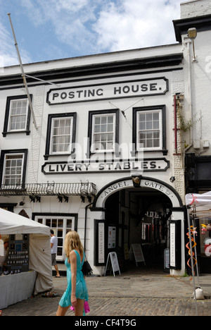 The Angel Posting House & Livery is the last remaining coaching inn in Guildford and has records dating back to - Stock Photo