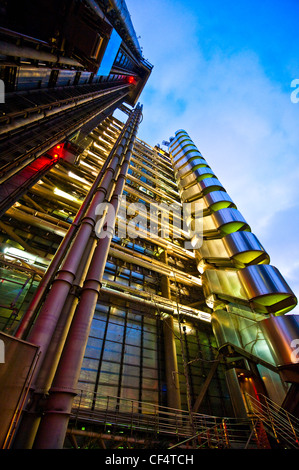 The Lloyd's Building, home of the insurance institute Lloyd's of London. The building is sometimes known as the - Stock Photo