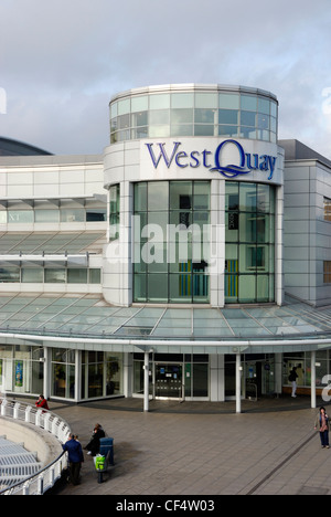 The West Quay Shopping Centre in Southampton. - Stock Photo