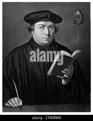 Martin Luther 1483 1546 German monk priest professor theology Protestant Reformation church priest - Stock Photo