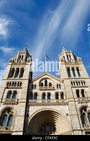 The Cromwell Road entrance to the Natural History Museum in London. - Stock Photo