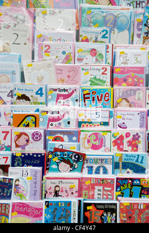 Shop Display Of Childrens Birthday Cards Stock Photo 35344954 Alamy