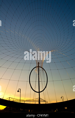 The Temenos sculpture by artist Anish Kapoor and structural designer Cecil Balmond on the banks of the River Tees. - Stock Photo