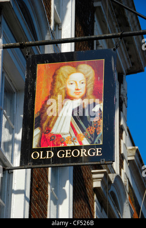 Old George public house in Bethnal Green Road. - Stock Photo