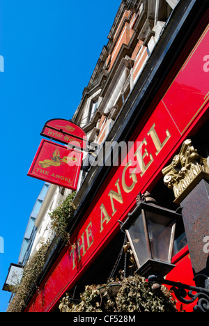 The Angel public house in City Road. - Stock Photo