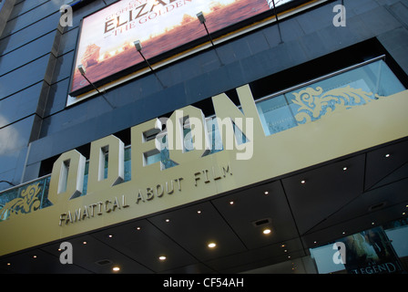 Exterior view of the entrance to the Odeon cinema in Leicester Square. - Stock Photo