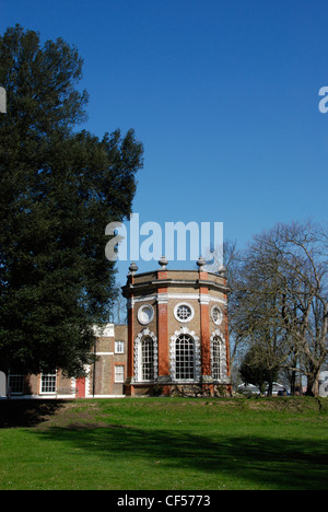 A view across the grass to Orleans House Gallery in Twickenham. - Stock Photo