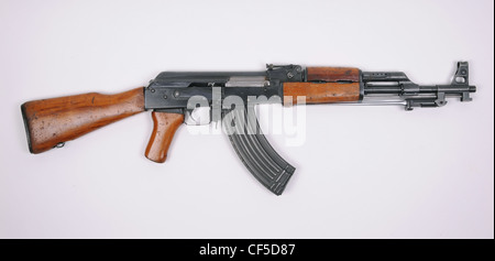 Albanian made variant of the Chinese Type 56 stamped receiver rifle, the ASh78 Type 1 (Automatiku Shqiptar 78 Tip - Stock Photo