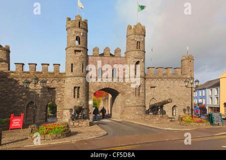 Macroom, County Cork, Republic of Ireland. Macroom Castle. - Stock Photo