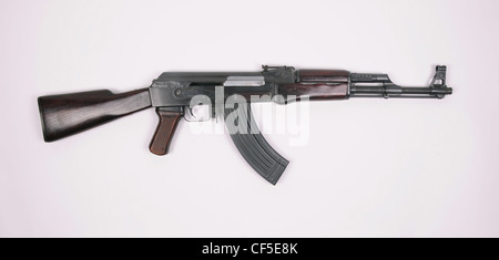 Chinese Type 56 rifle. Based on the third pattern milled receiver AK47. - Stock Photo